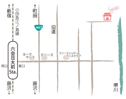 cotocoto+までの地図